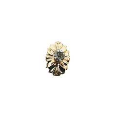 Gold Plated Crystal Medallion Knob by Houseworks