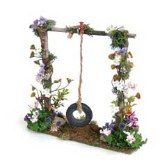 Tire Swing on Floral Frame
