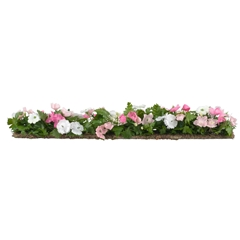 Pink and White Floral Border