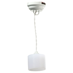 Hopewell White Barrel Hanging Light by Houseworks