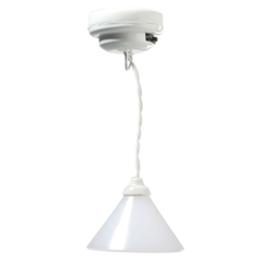 Edgehill White Cone Hanging Light by Houseworks
