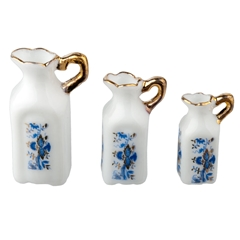 3-Pc. Blue Onion Pitcher Set by Reutter Porzellan