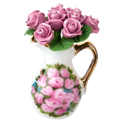 Pink Rose Pitcher from Reutter Porzellan