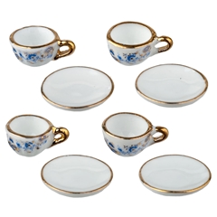 8-Pc. Set of Blue Onion Cups and Saucers