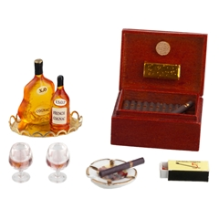 6-Pc. Humidor and Decanter Set