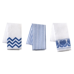 Blue and White Tea Towels Kit