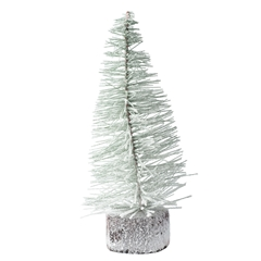"10"" Flocked Spruce Tree"