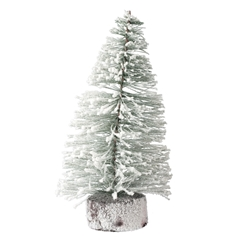 "12"" Flocked Spruce Tree"