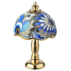 Blue Arabesque Non-Working Lamp from Reutter Porzellan