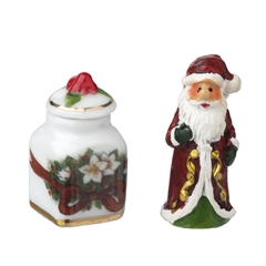 2-Pc. Christmas Cookie Jar and Santa Set by Reutter Porzellan