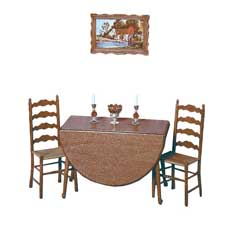 Drop-Leaf Table and Two Chair Kit