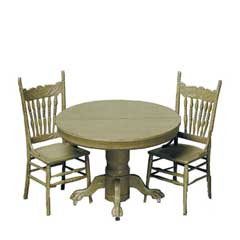 Round Dining Table & Two Chairs Kit