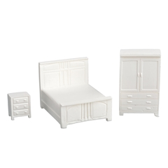 1/48 Scale 3-Pc. Modern Bedroom Set