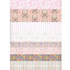 18-Sheet Pink Wallpaper Assortment
