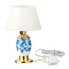 12V Blue and White Table Lamp by Houseworks