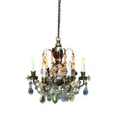 Nostalgia Antique Brass Six Arm Chandelier