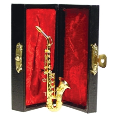 Brass Saxophone in Lined Case