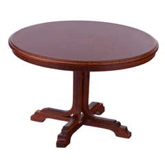 Curved Cross Pedestal Table