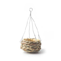 Empty Hanging Woven Planter