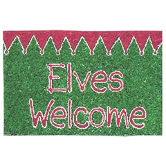 """Elves Welcome"" Mat"