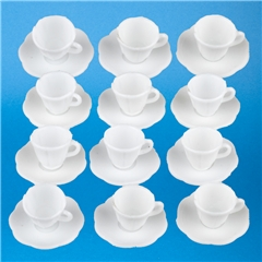 Set of 12 Cups & Saucers