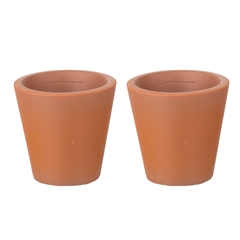 "Pair of Small Tapered ""Terra-Cotta"" Planters"