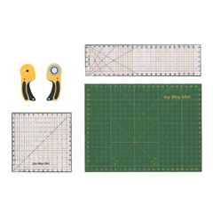 Cutting Mat, Quilting Rulers and Rotary Cutter Set
