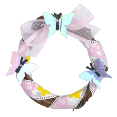 Spring is A-Flutter Wreath