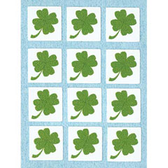 12 Shamrock Tile Stickers
