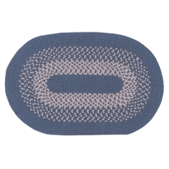 Blue Oval Braided Rug