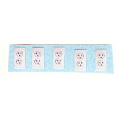 Ten Self-Adhesive Wall Outlets