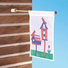 Birdhouse Porch Flag