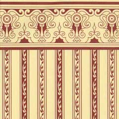 Burgundy Regency Stripe Wallpaper