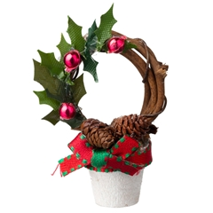 Christmas Wreath Topiary