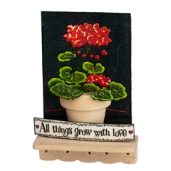 """All Things Grow with Love"" Wall Shelf"