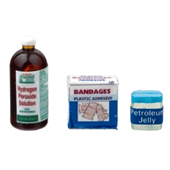 Bandages, Peroxide and Petroleum Jelly
