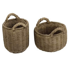 Pair of Round Baskets