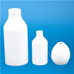 Set of Three White  inchSimple Shapes inch Vases