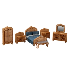1/144 Scale Victorian Bedroom Furniture Kit