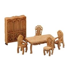 1/144 Scale Victorian Dining Room Furniture Kit