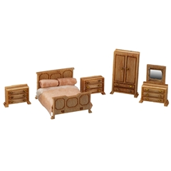1/144 Scale Traditional Bedroom Furniture Kit