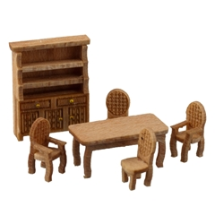 1/144 Scale Traditional Dining Room Furniture Kit