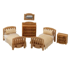 1/144 Scale Traditional Child's Room Furniture Kit