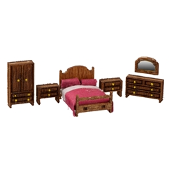 1/144 Scale Country Bedroom Furniture Kit