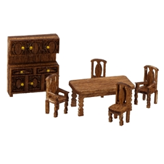 1/144 Scale Country Dining Room Furniture Kit