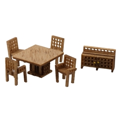 1/144 Scale Modern Dining Room Furniture Kit