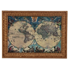Old World Map Framed Print