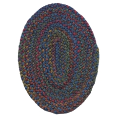 Multi-Color Oval Rug