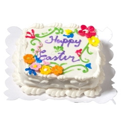 """Happy Easter"" Sheet Cake"