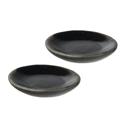 Two Black Saucers